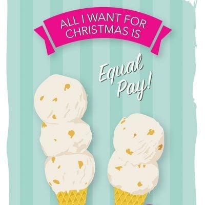 Equal Pay holiday card